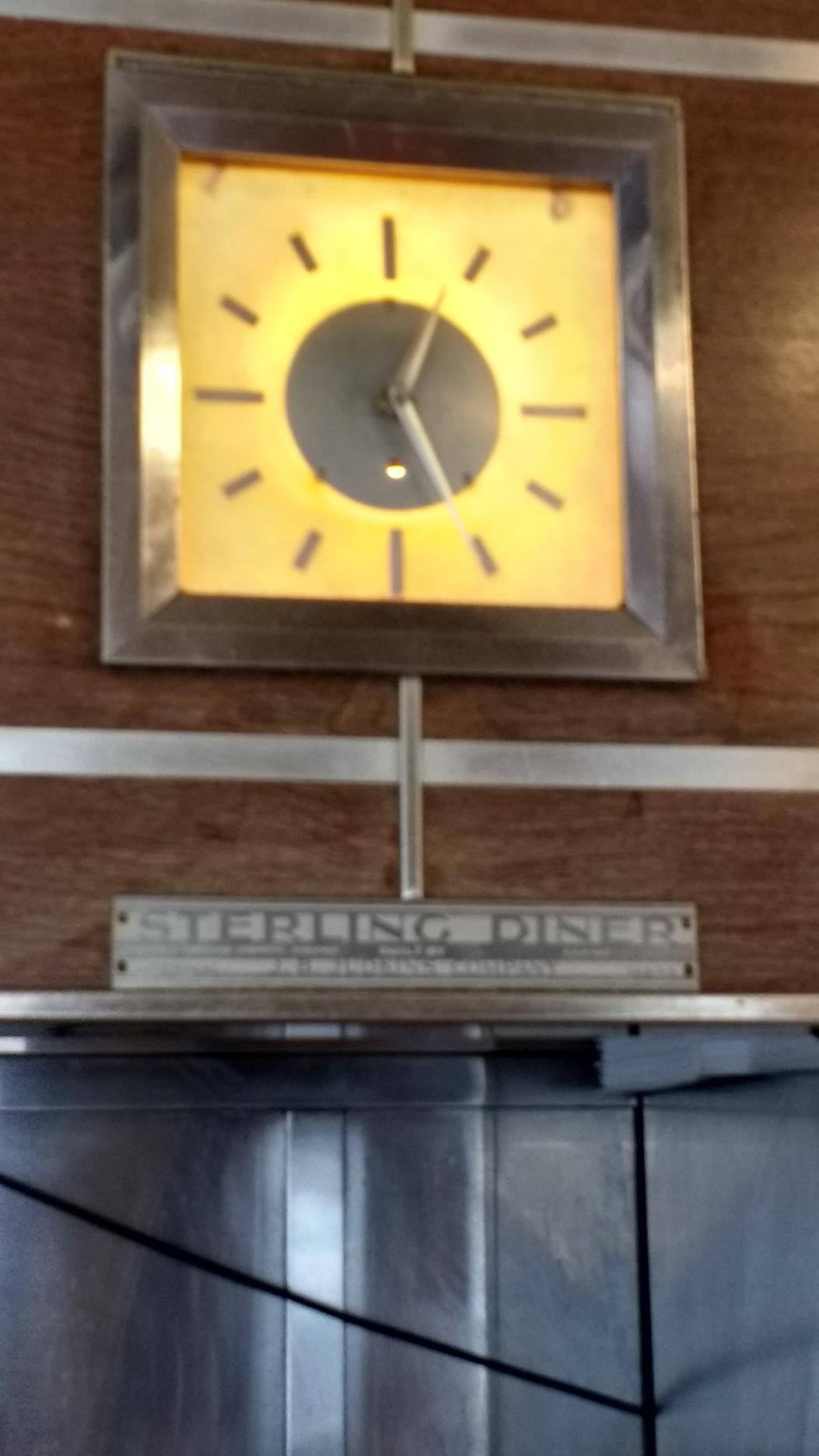 Original clock and diner tag.