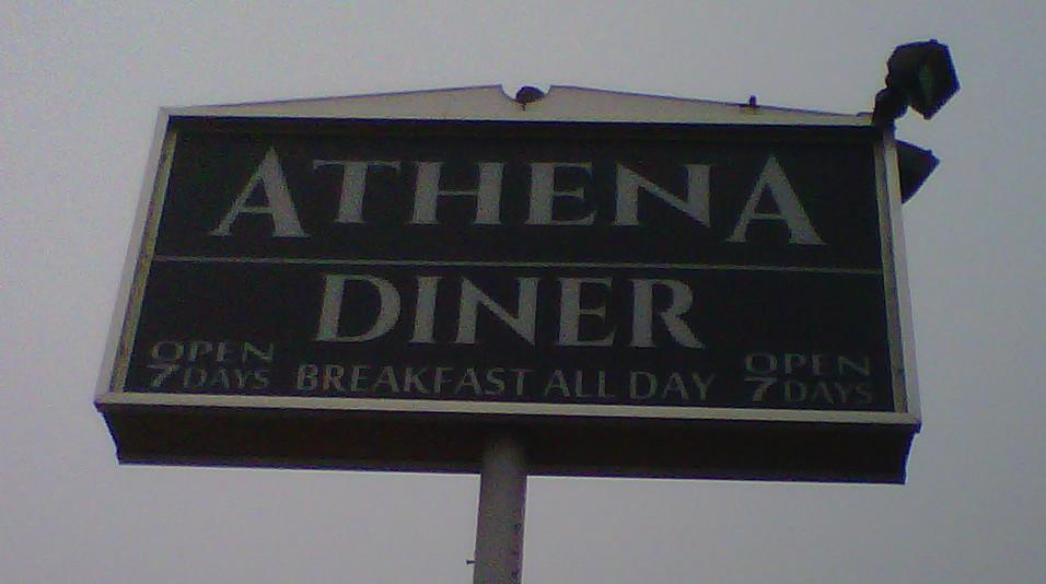 Athena Diner - Sign