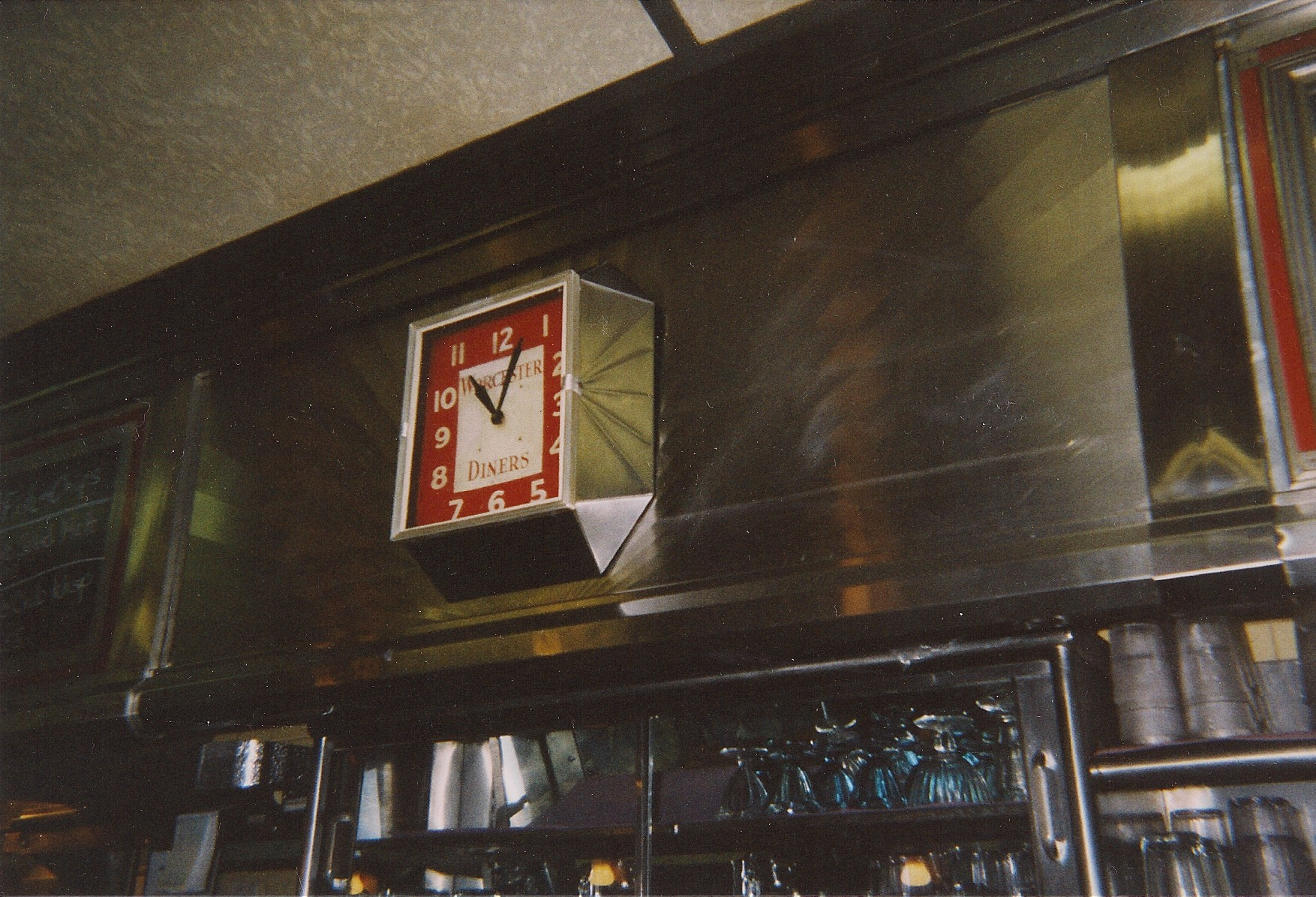 Clock in Jigger's Diner