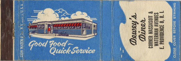 Dewey's Diner - Matchbook